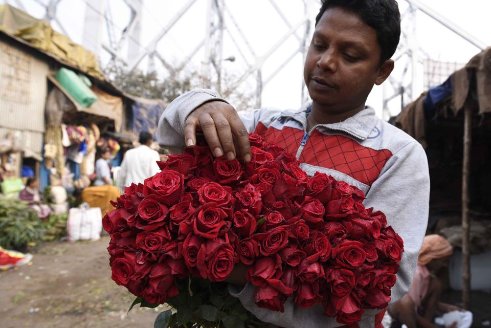 The Floriculture Association Nepal has estimated that roses from India will account for sales worth Nepalese Rs 5 million on Valentine's Day.