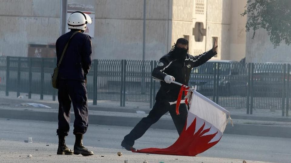 Demonstrators clashed with police in the Bahraini capital and neighbouring Shia villages on Tuesday, the sixth anniversary of anti-government protests that were brutally suppressed by the authorities