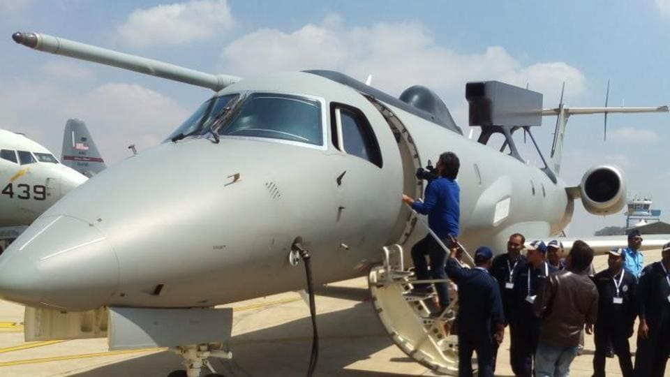 The first indigenously developed airborne early warning and control (AEW&C) system was handed over to the IAF on Feb 14, 2017, the first day of Aero India-2017 in Bengaluru.