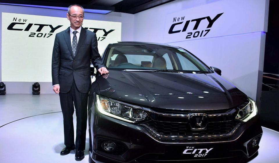 New Delhi: Chief Executive and President of Honda Cars India Ltd, Yoichiro Ueno at the launch of Honda city 2017 in New Delhi on Tuesday.