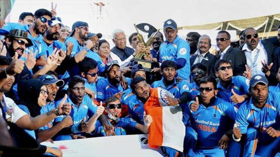 The Indian Blind cricket team secured their second World T20 title after defeating Pakistan in the final in Bangalore.