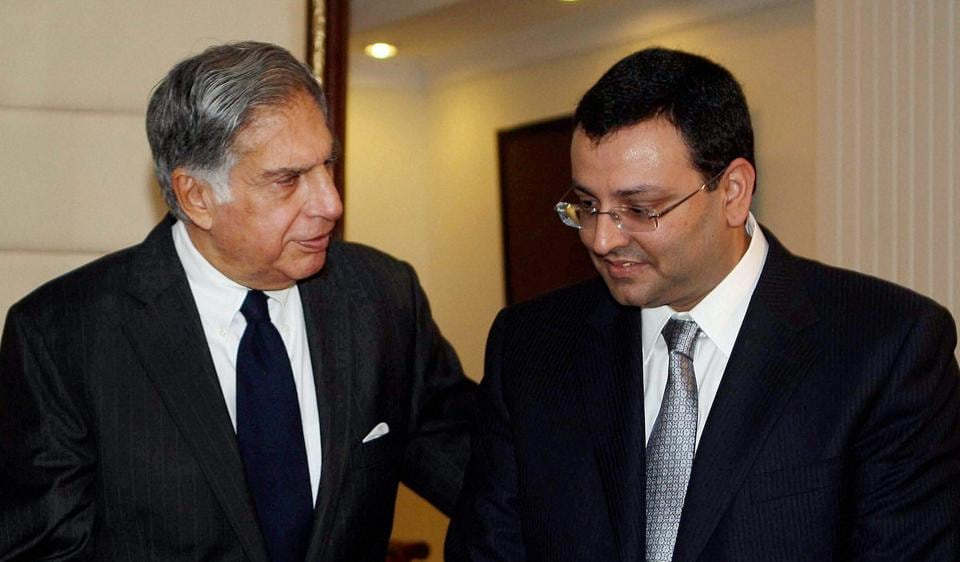 Ratan Tata with ousted chairman Cyrus Mistry.