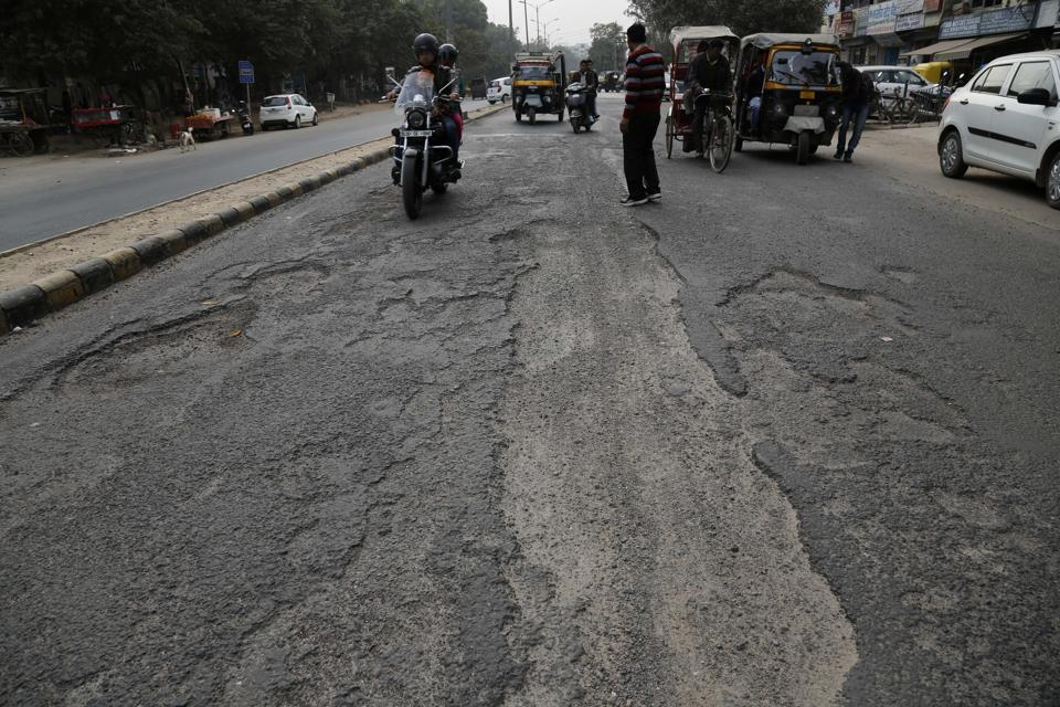 Projects, including road maintenance, are pending because of paucity of funds with the Huda.