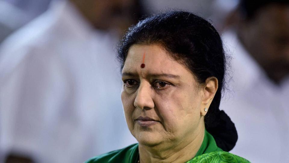 VK Sasikala at former Chief Minister J Jayalalithaa's memorial in Chennai on Thursday.