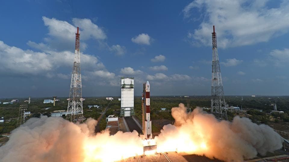 The PSLV-C37 rocket blasts off from the Satish Dhawan Space Centre in Andhra's Sriharikota on February 15, 2017. India set a new space record by launching the most number of satellites – 104 – in one go. The next country to hold the record is Russia, with 37 satellites. (ISRO.gov.in)