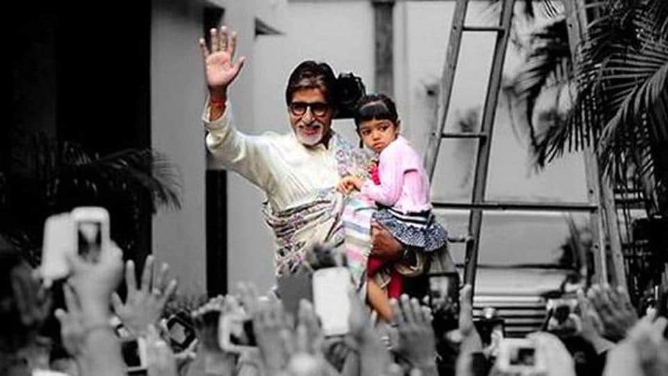 Big B had a pizza date with Aaradhya.