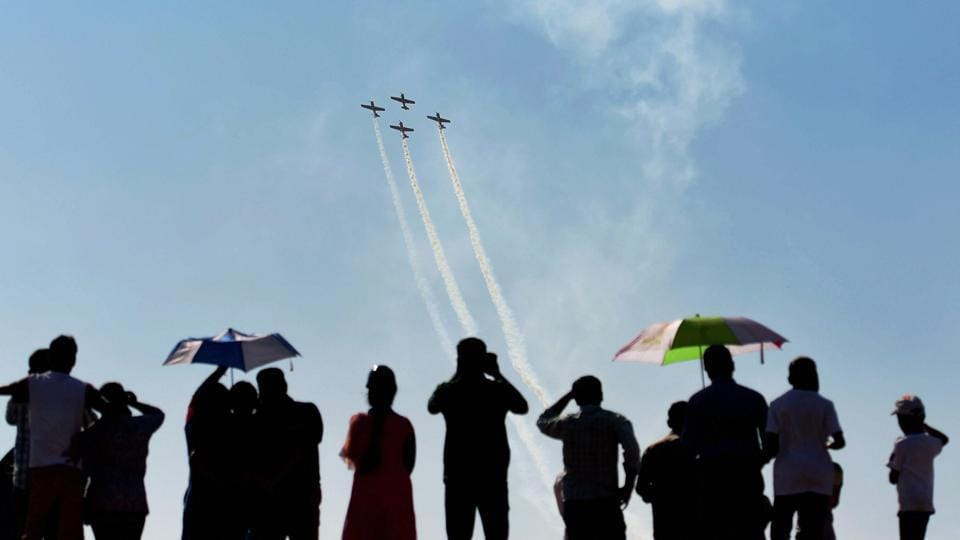 BrHome Ministry has sent a high-level delegation to the premier air show Aero India in Bengaluru as part of its quest to create a dedicated air wing for internal security duties.