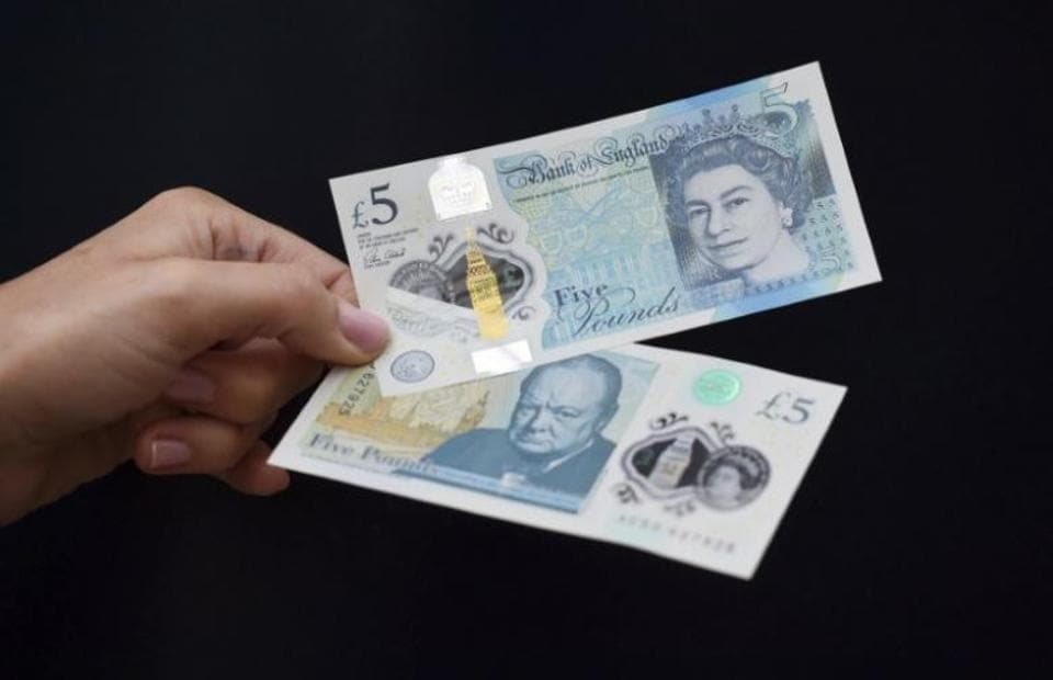 The polymer £5 note features an iconic image of Winston Churchill on one side and that of Queen Elizabeth on the other.