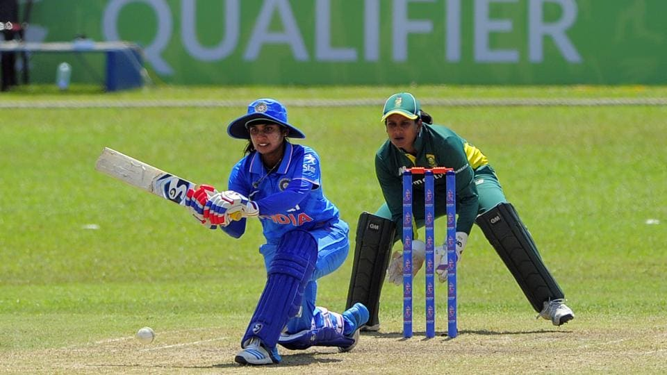 India captain Mithali Raj during the India Women vs South Africa Women in an ICC Women's World Cup Qualifier.