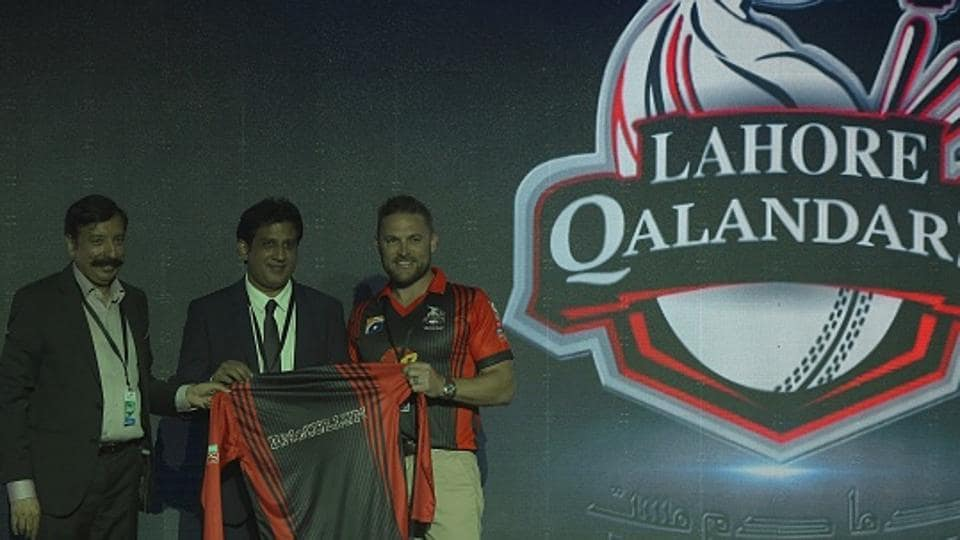 Former New Zealand captain Brendon McCullum (right), who plays for Lahore Qalandars, is one of the 30 foreign players drafted in by the five franchises in the second edition of Pakistan Super League (PSL) this year.
