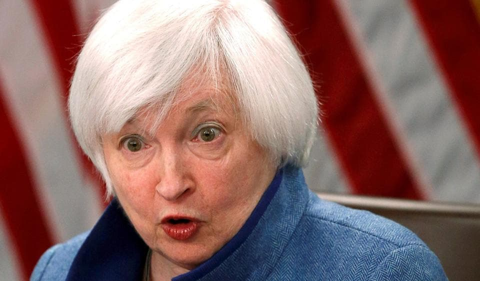 Federal Reserve Chair Janet Yellen holds a news conference following day two of the Federal Open Market Committee (FOMC) meeting in Washington, U.S. on December 14, 2016.