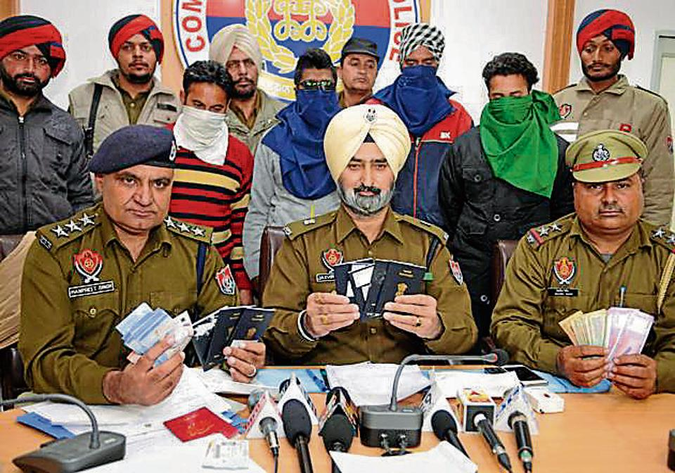 The accused in police custody in Jalandhar on Wednesday.