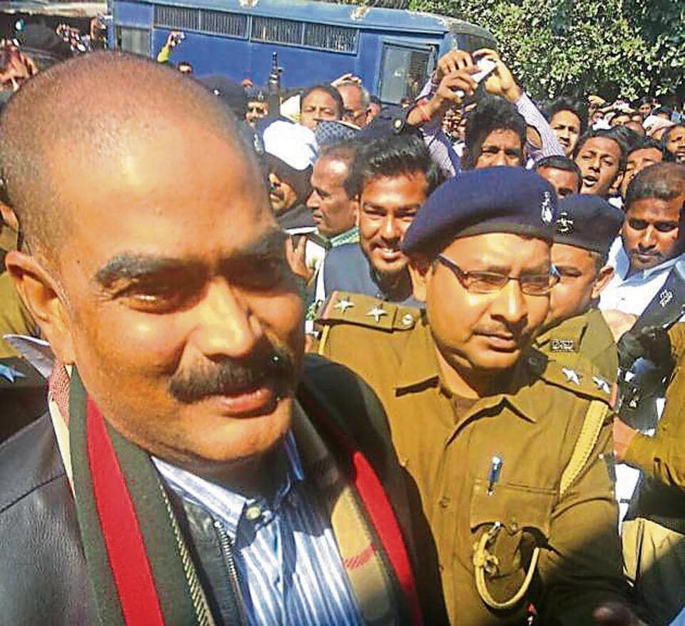 Md Shahabuddin being produced in Siwan court.