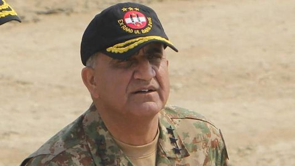 File photo of Pakistan Army chief Gen Qamar Javed Bajwa attending a military exercise on the Indian border in Bahawalpur district.