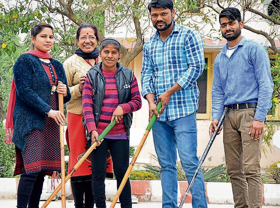 Special children of Pingalwara selected for the Special Olympics World Winter Games 2017 with their trainers in Amritsar on Wednesday.