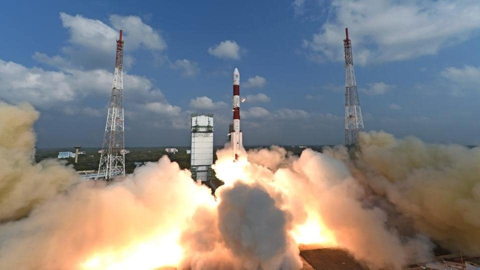 Space agency ISRO successfully launched a record 104 satellites from Sriharikota on Wednesday.