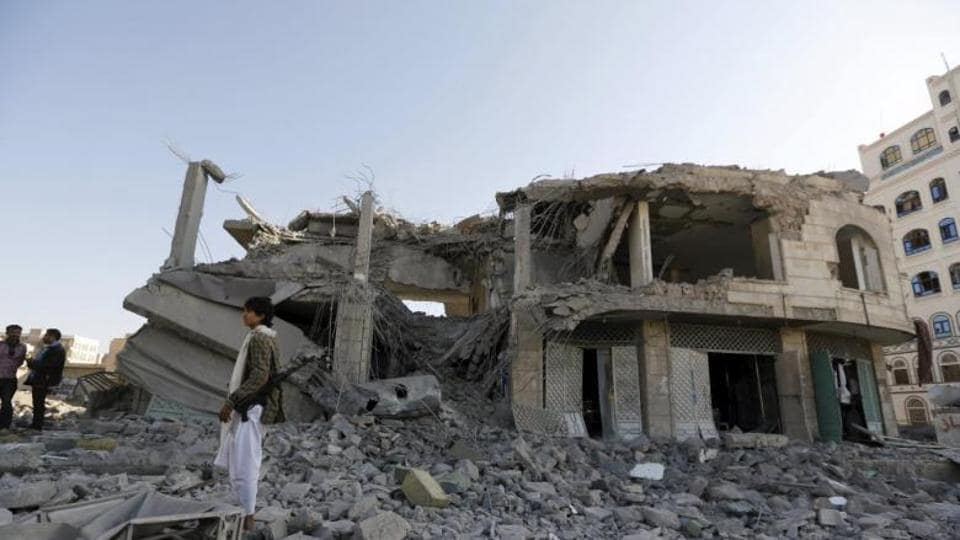 Plane strike hits Yemen mourners, killing nine women, one child -residents