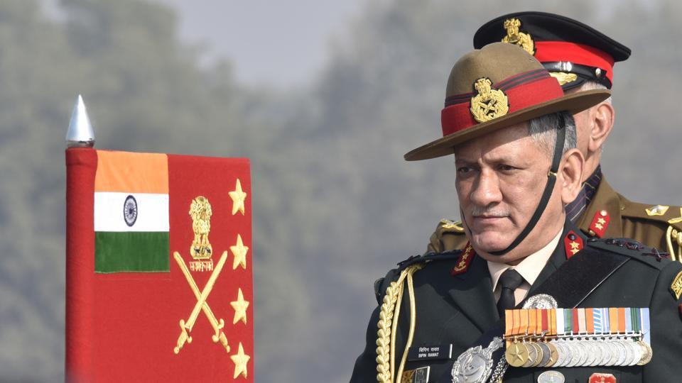 General Bipin Rawat,Indian Army,Kashmir
