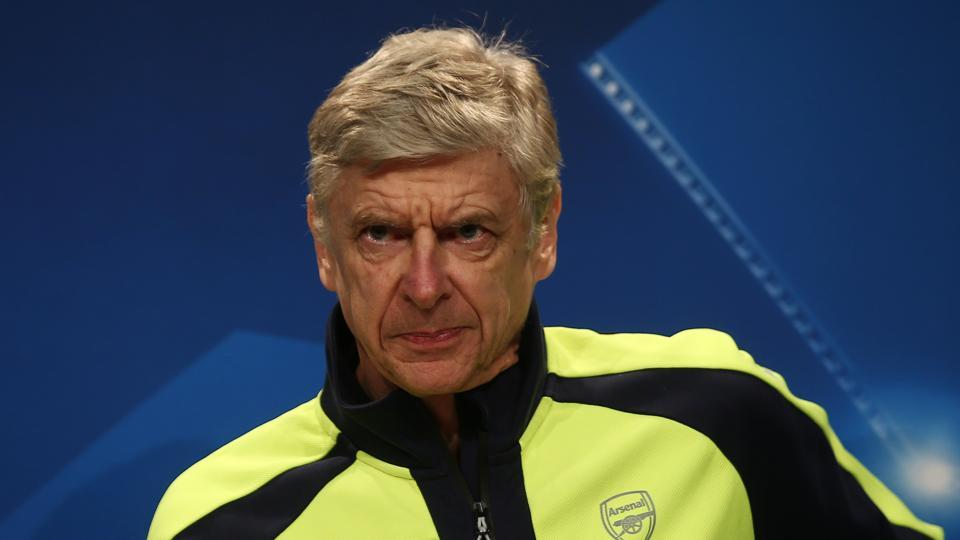 Arsenal manager Arsene Wenger during a press conference on Tuesday.