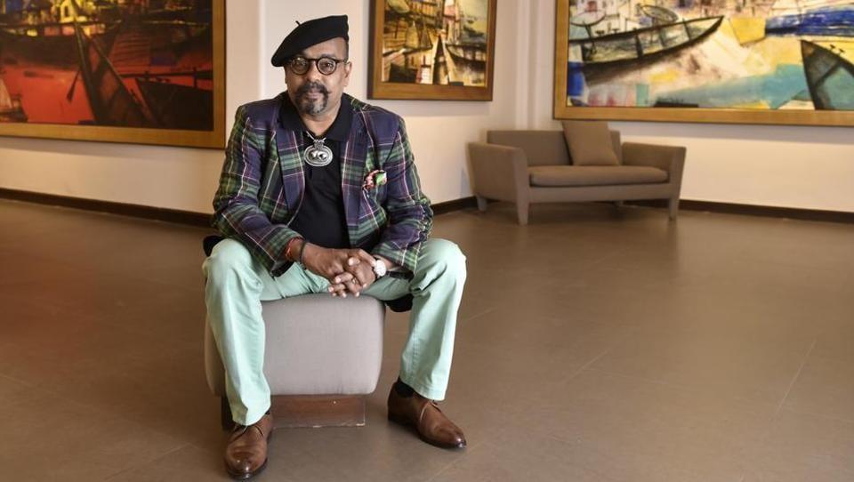 Artist Paresh Maity at Art Musings gallery.