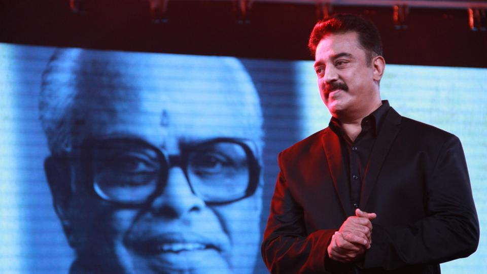 Actor Kamal Haasan at the audio launch of upcoming multilingual film Uttama Villian.