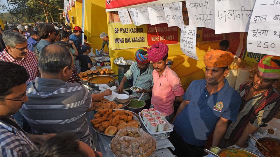 A food stall at the Kala Ghoda Arts Festival at Cross Maidan.