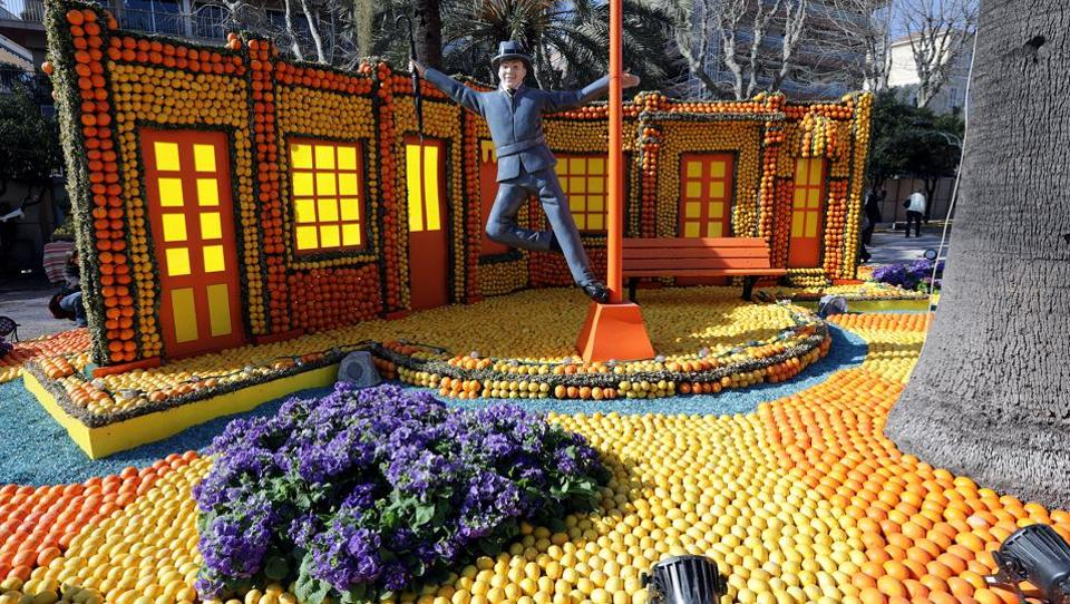 Did you that the humble, yellow lemon has a festival dedicated to it? Started  in 1933 as a fruit show, the Lemon Festival is now an internationally renowned event, drawing around 300,000-400,000 visitors to a joyful fruity jamboree every year. (Eric Gaillard / REUTERS)