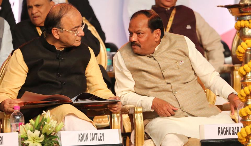 Arun Jaitley,Raghubar Das,Jharkhand Global Investors' Summit