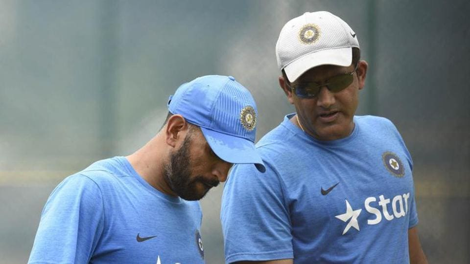 MS Dhoni 's rise as Indian cricket team captain was lauded by coach Anil Kumble.
