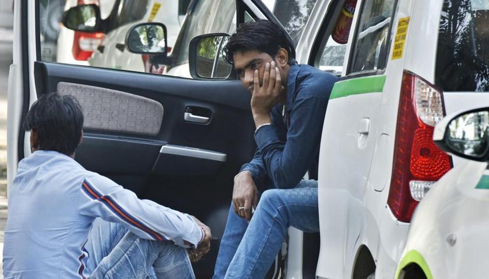 Cab drivers' strike in Delhi