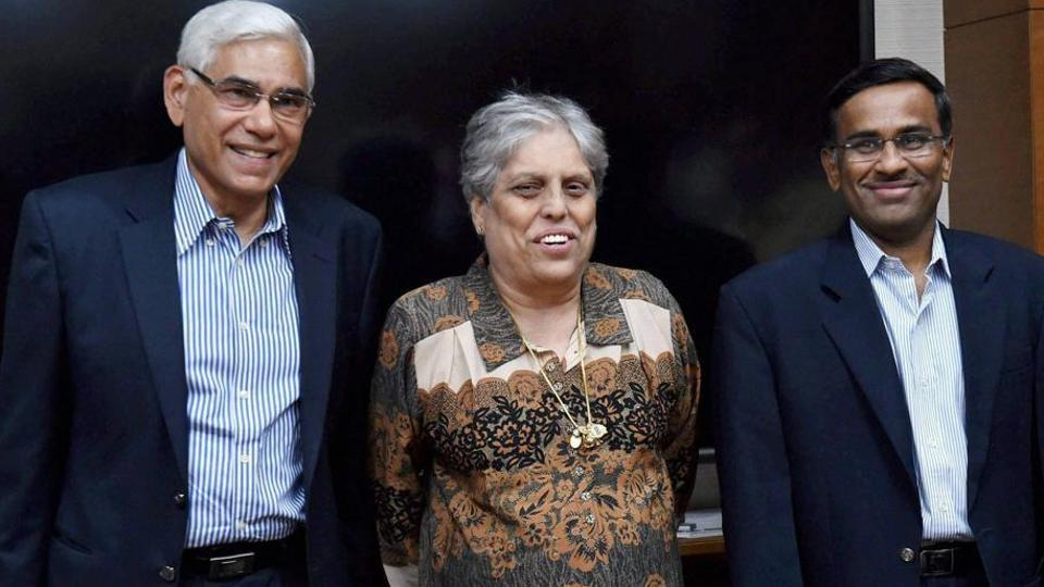Headed by former CAG Vinod Rai (left), the other members of the BCCI Committee of administrators including Vikram Limaye, (right) and Diana Edulji will be present in the meeting where Indian Premier League (IPL) and details of the ICC meet is expected to be the top agenda.