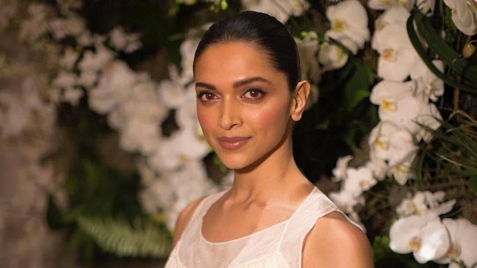 Deepika Padukone in a chic Ralph Lauren dress.