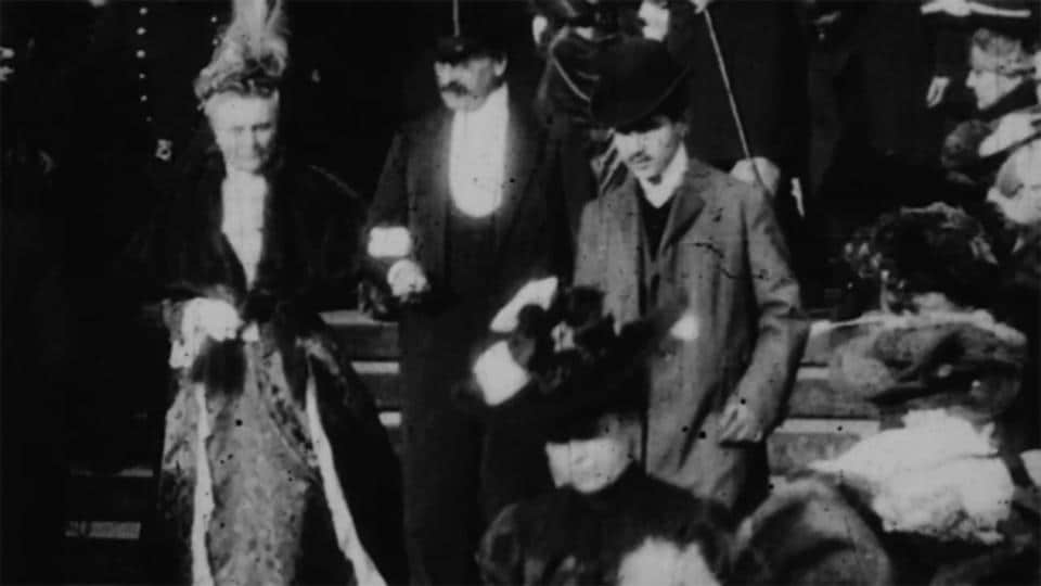 The man thought to be Proust appears in the 37th second of a clip that lasts one minute, 11 seconds and was published Wednesday on the website of the French magazine Le Point.