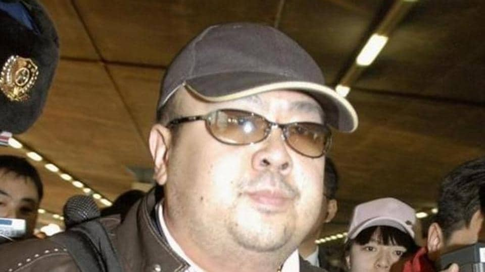 Kim Jong Nam arrives at Beijing airport in Beijing, China, in this photo taken by Kyodo February 11, 2007