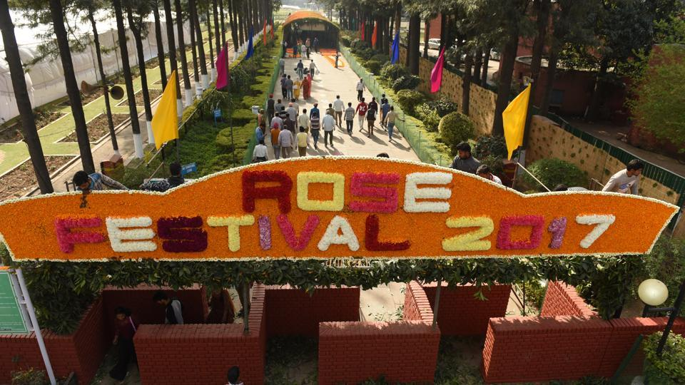 The three day festival at Rose Garden in sector 16 is the most sought after event of the city.