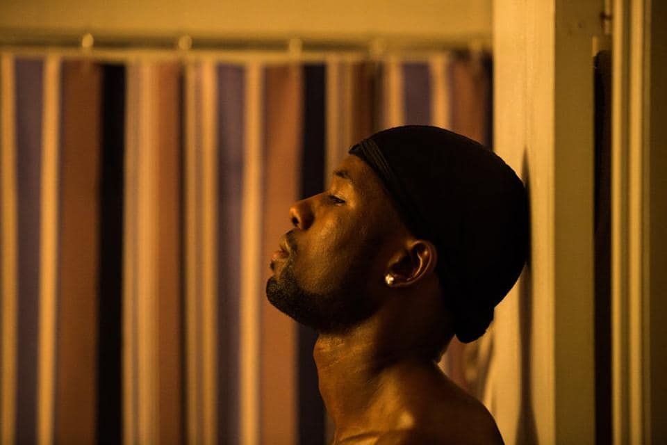 Trevante Rhodes as Chiron 'Black'. The film revolves around a gay black man's struggles with identity and self-discovery.