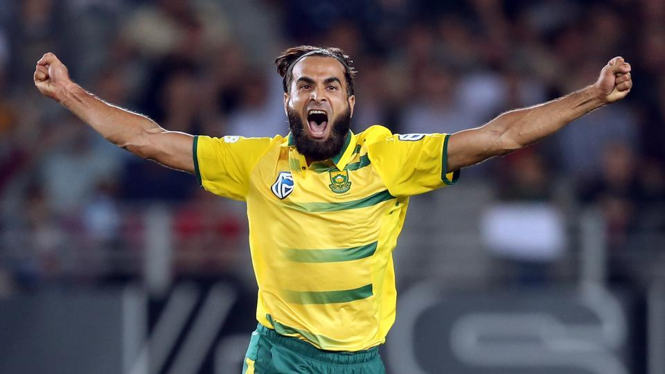 Imran Tahir picked up his maiden five-wicket haul as South Africa thrashed New Zealand by 78 runs in the one-off Twenty20 International in Auckland.
