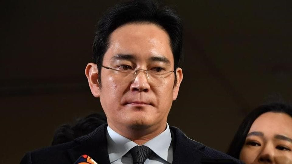 Samsung Group chief Jay Y Lee was arrested early over his alleged role in a corruption scandal on Feb 17.