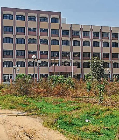Newly constructed building of the excise office in Jalandhar.