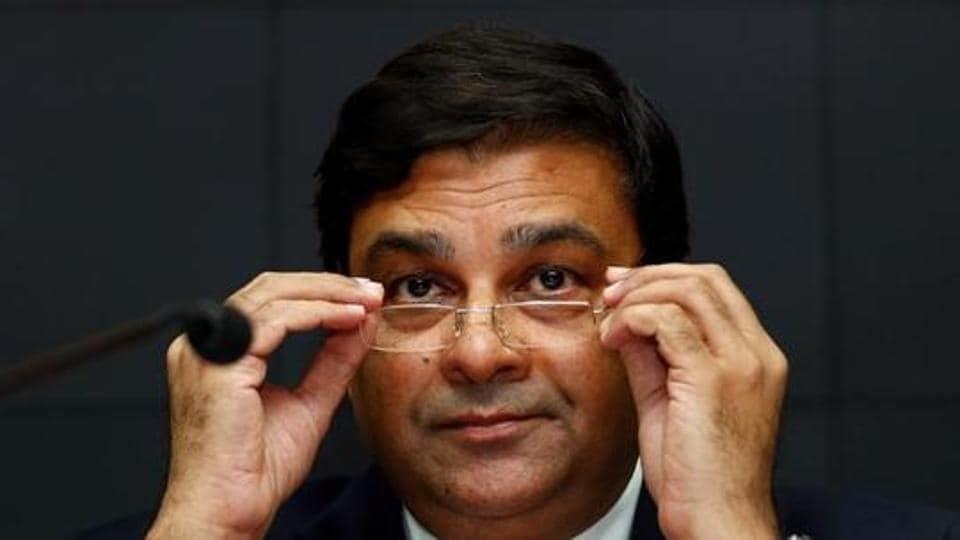 Reserve Bank of India governor Urjit Patel attends a news conference.