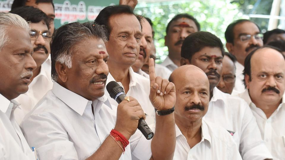 After holding hectic discussions at Panneerselvam's residence on Friday morning, a small group of AIADMK leaders met the Speaker in the Secretariat and demanded secret ballot on Saturday.