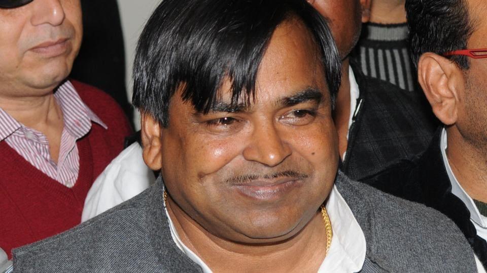 Uttar Pradesh minister Gayatri Prajapati who was earlier sacked by CMAkhilesh Yadav.