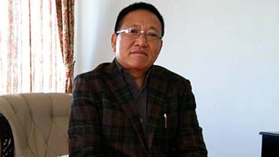 Nagaland CM TRZeliang rushed to New Delhi on Thursday in a last minute attempt to save his chair.