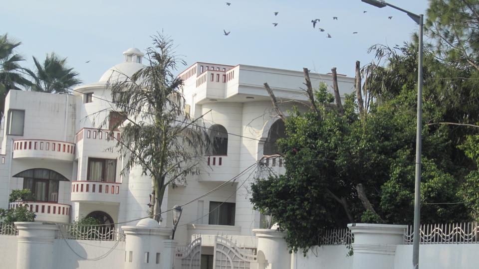 Samajwadi Party founder Mulayam Singh Yadav's residence in Saifai.