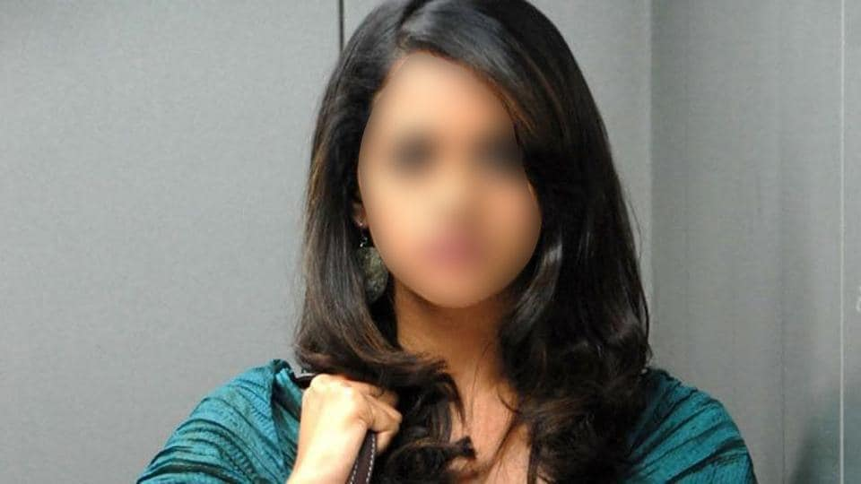 The actor (face blurred) has appeared in more than 100 films in her career.