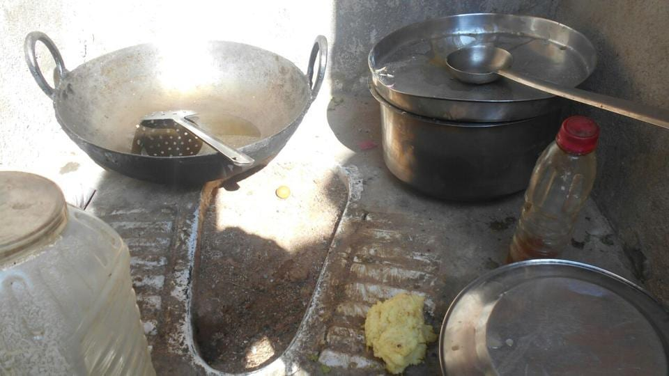 In Kodan village, Dinesh Yadav has changed his toilet into a kitchen because the septic tank was not constructed.