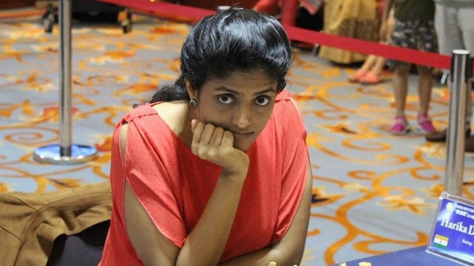 Harika Dronavalli entered the pre-quarterfinals of the Women's World Chess Championship while Padmini Rout also made progress.