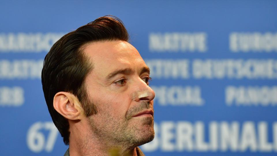 Australian actor Hugh Jackman attends a press conference for the film Logan in competition at the 67th Berlinale film festival in Berlin.