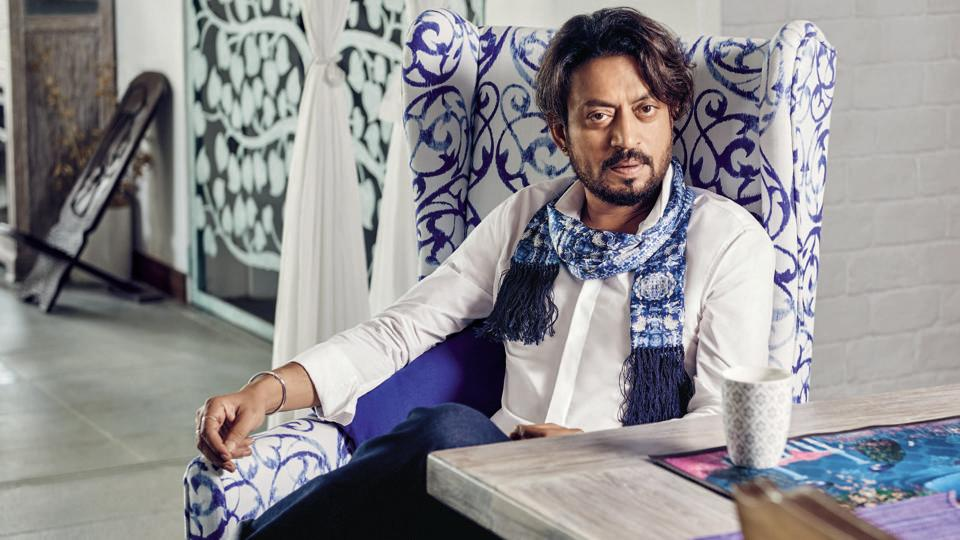 Bollywood actor Irrfan Khan posing for HT Brunch profile shoot in March 2016 in Mumbai.