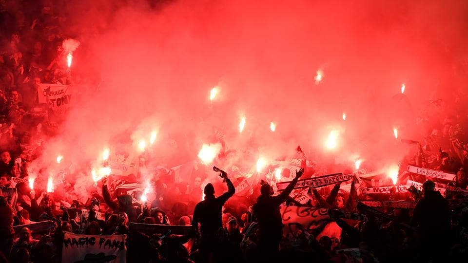 St Etienne have been penalised by UEFA after fans set off fireworks, threw objects during the Europa League clash against Manchester United F.C.